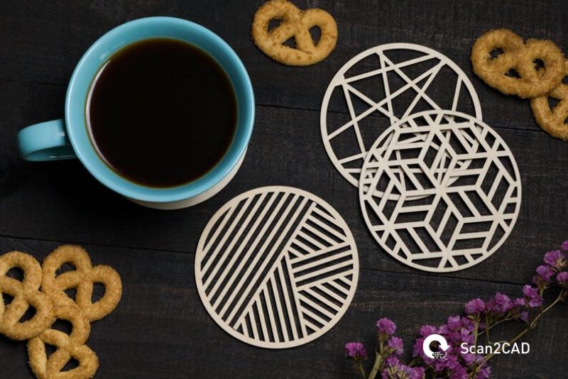 geometric drinks coasters