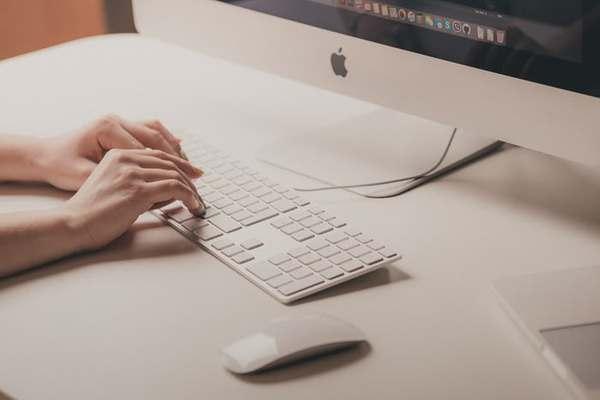 computer keyboard on desk
