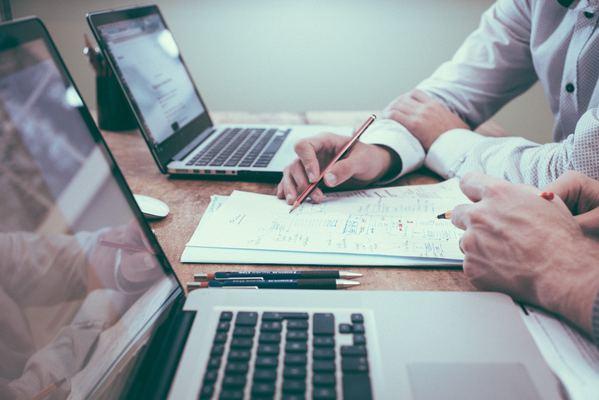 laptops on office desk