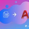 pdf to autocad icon