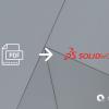 PDF icon, SolidWorks logo, Scan2CAD logo