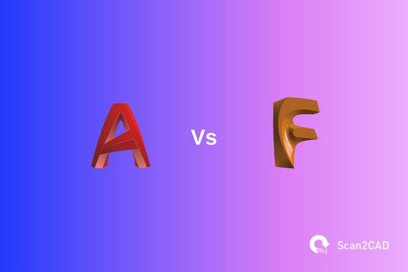AutoCAD vs Fusion 360 application logos