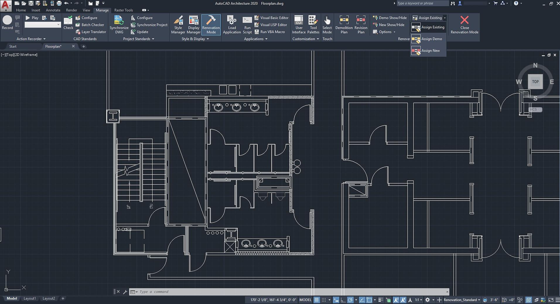 designing in Autocad architecture