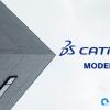 Corner of building against sky. CATIA models