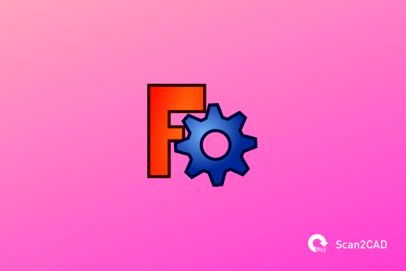 FreeCAD application icon on pink background
