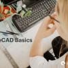 Woman using computer at desk - LibreCAD Basics