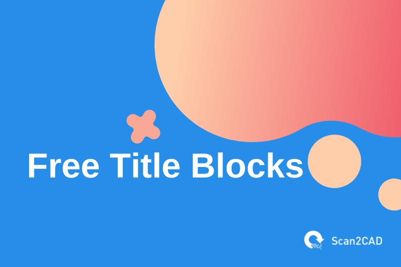 free title blocks, red beige graphics