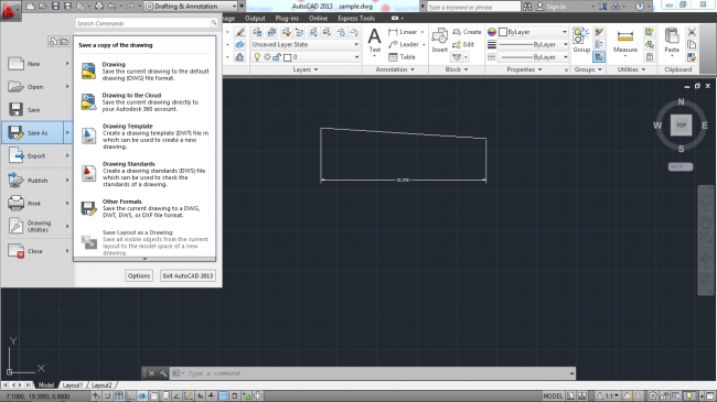 Black and white saving drawing in different formats in autocad mechanical