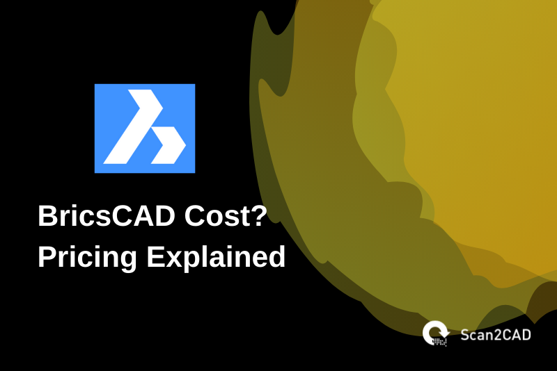 bricscad cost pricing explained, black and blue gold graphics
