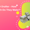 Cad drafter salary, how much they make, pink yellow green graphics