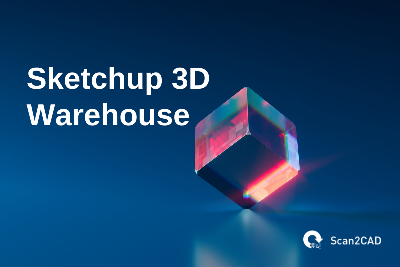 sketchup 3d warehouse, blue red and dark blue graphics